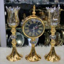 ساعت رومیزی طلایی