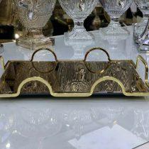 سینی آیینه ای طلایی