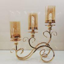 شمعدان طلایی سه شاخه