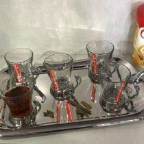 فنجان پایه استیل دسته دار پایه دار