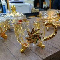 فنجان خورشیدی طلایی زیبا