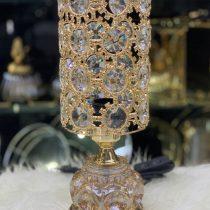 آباژور رومیزی بسیار لوکس با پایه فلزی چین