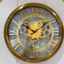 ساعت دیواری بدنه فلز آبکاری pvd طلا