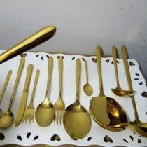 سرویس قاشق چنگال طلایی